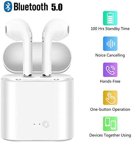 Port/átil Auriculares para Smartphones Auriculares Bluetooth In-Ear Auriculares Mini Auriculares Inalambricos Deportivos Est/éreo con Microfono y Cancelaci/ón de Ruido Caja de Carga