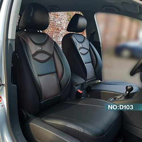 Maat stoelhoezen compatibel met Ford Ranger bestuurders en passagiers vanaf bouwjaar 2015 Kleurnummer: D103