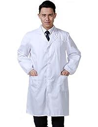 41766b69ee3 Women's Men's 41 Inch White Lab Coats Laboratory Doctor Workwear - Unisex  Lab Coat Scrubs Adult