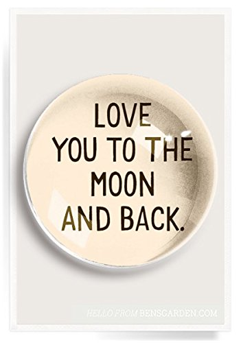 (Ben's Garden Love You To The Moon And Back French Crystal Dome Paperweight)