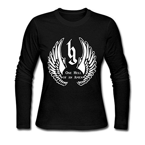 SANYOU Women's Brantley Gilbert One Hell Of An Amen Long Sleeve T-shirt M