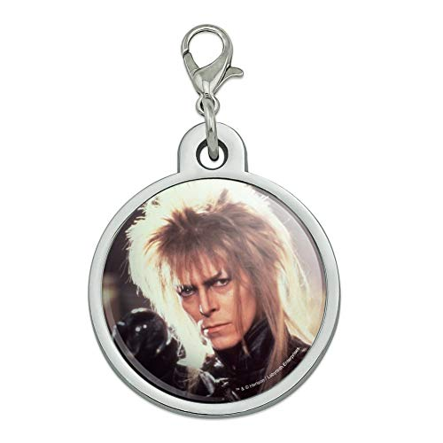 GRAPHICS & MORE Labyrinth Goblin King Crystal Ball David Bowie Jareth Chrome Plated Metal Pet Dog Cat ID Tag - Large ()
