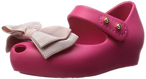 Melissa Shoes Mini Ultragirl Ribbon 15, Pink Contrast 22/23 Pink by Melissa