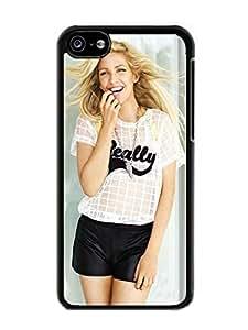 Customized Portfolio ellie goulding 1 Black Phone Case For iPhone 5c Cover Case
