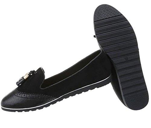 Damen Schuhe Halbschuhe Slipper Modell Nr.1 Schwarz