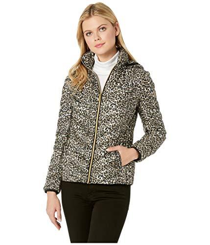 - Michael Michael Kors Women's Zip Front Short Packable M823185C Leopard Large