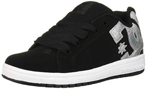 DC Girls' Court Graffik SE Skate Shoe, Black/Splatter, 3.5 M M US Big Kid ()