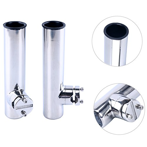 Amarine-made 2 PCS Stainless Clamp on Fishing Rod Holder for Rails 7/8