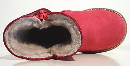 Pinocchio Stiefel Lammfell Warmfutter Leder Reißverschluss pink