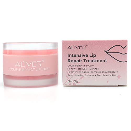 Lip Sleep Mask - Lip Mask with Collagen Peptide - Night Treatments Lip balm Chapped for Cracked lips, Dry lips, wrinkles lips for girls, women and Men (Strawberry)