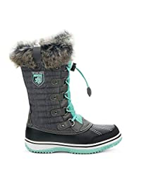 Yellow Shoes Frosty Girls Kids Snow Winter Boots - Casual & Comfortable - Made from Nylon Fabric - Extra Warm Booties for Outdoors, Sports & A lot of Fun (Big Kid Sizes)
