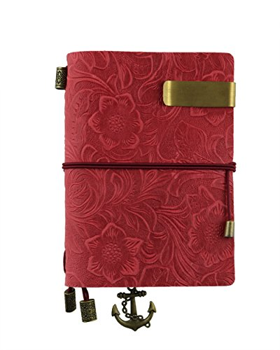 Vintage Leather Handmade Traveler notebook – Refillable, Perfect for Men  Women Writing–Pink