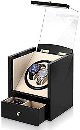 SKINGO Caja De Reloj Caja para Relojes AutomáTicos Caja De Enrollador De Reloj AutomáTico De Madera 2 Relojes De Pulsera + 2 Estuche De Almacenamiento Caja Reloj Automatico: Amazon.es: Hogar