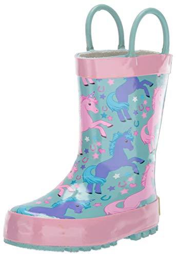 Western Chief Girls' Waterproof Printed Rain Boot,Turquoise, 5/6 Medium US Toddler]()