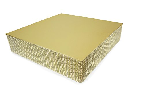 Bling, Wedding Cake Stand/Drum (12'' Square, Soft Gold) …