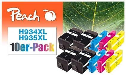 Peach Pack de 10 cartuchos de tinta, XL de relleno, compatible con ...