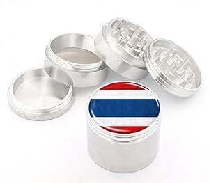 Thailand Flag Design Medium Size 4Pcs Aluminum Herbal or Tobacco Grinder # 50M050416-44