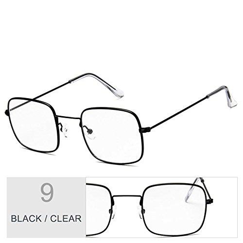 TIANLIANG04 Marco Clear Con Metal Sol Sobredimensionado Plateado De De Mujer Gafas Claro Black Sol Gafas De pzZrgfp
