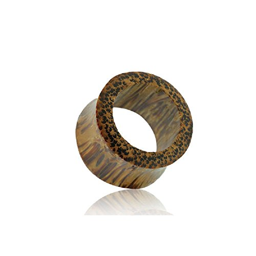 nic Coconut Wood Flesh Tunnel Plug (Sold by Pair) (5mm-4GA) ()
