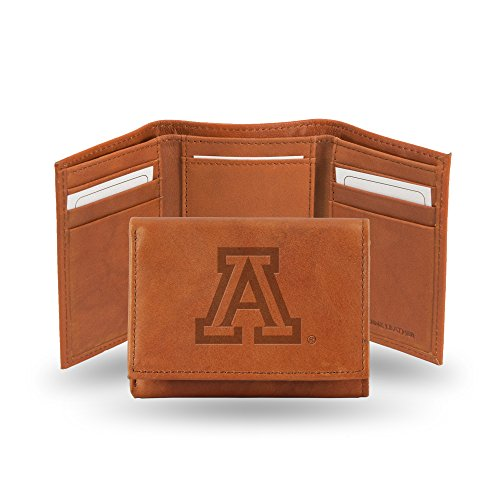 Rico Industries NCAA Arizona Wildcats Embossed Leather Trifold Wallet, ()