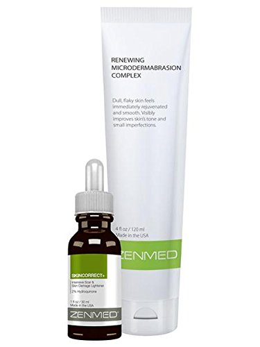 Skin Eraser (ZENMED Skin Eraser Kit - Suitable for all Skin Types Prone to Acne Scarring Wrinkles and Fine Lines with a Triple-acid Esthetician Strength Serum Diminishes Dark Spots Freckling and Hyper Pigmentation)