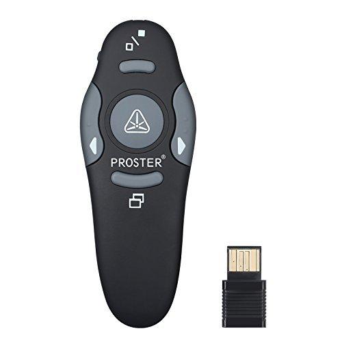 Proster Wireless Presenter 2.4GHz Wireless USB PowerPoint PPT Presenter...