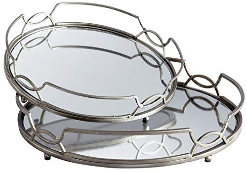 - Cyan Design Tray Lady ANN Transitional Gold Leaf Iron Stainless Steel Mir