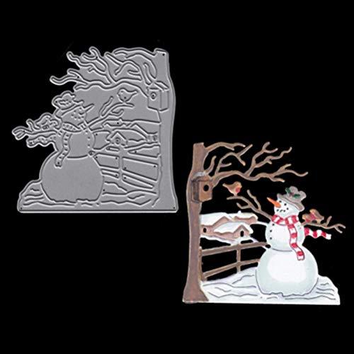 Blue Stones Metal Steel Leaves Cutting Dies Christmas Snowman Craft Die Cut Set for DIY Scrapbooking Album Paper Card Photo Decorative