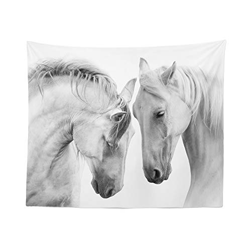 Horse Tapestry Wall Hanging Equestrian Horses Equine Beautiful Tapestries Dorm Room Bedroom Decor Art – Printed in the USA – Small to Giant Sizes