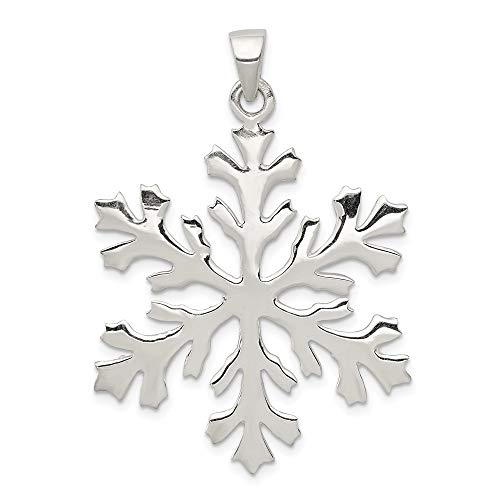 925 Sterling Silver Snowflake Pendant Charm Necklace Winter Fine Jewelry Gifts For Women For Her for $<!--$44.95-->