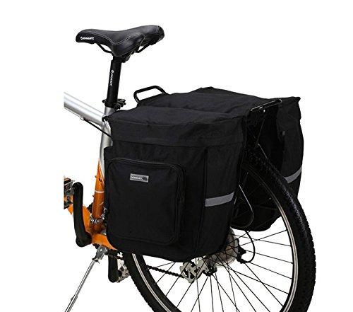 Roswheel 30L Cycling Bicycle Bike Seat Pack Rear Rack Pannier Double Bag Black