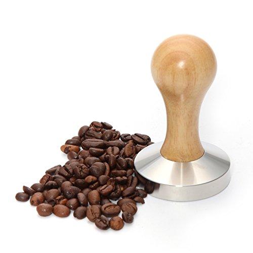 Espresso Tamper/kaffeemehlpresser 58 mm, Planar con hellbraunem ...