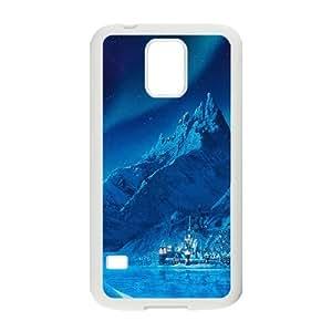 Samsung Galaxy S5 Cell Phone Case White Elsa Frozen Queen Disney Illust Snow Art SP4244569