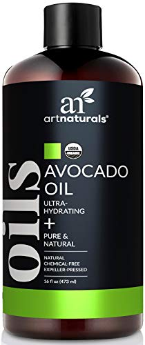 ArtNaturals USDA Organic Avocado Oil - (16 Fl Oz / 473ml) - Massage Oil & Moisturizer – 100% Pure Expeller Pressed and Hexane Free- for Hair, and Skin – Treatment for Age Spots Dry Skin and Scars