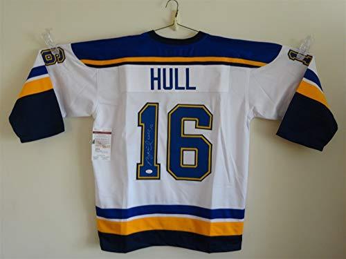 online store 6400e abec0 Brett Hull Blues Memorabilia, Blues Brett Hull Memorabilia ...