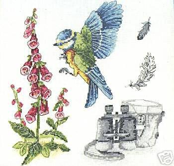 ANCHOR Bird Watching Cross Stitch Kit Premier