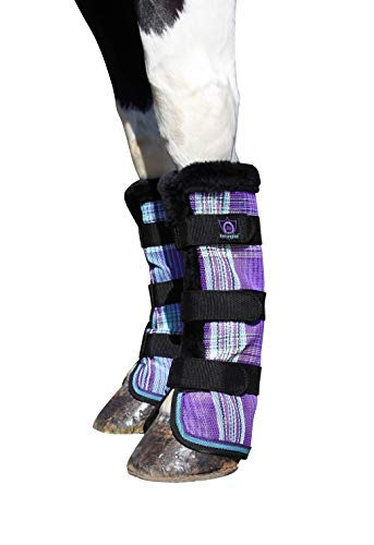 Kensington Non-Collapsing Protective Fly Boots - Horse Leg Guard - Provides Protection from UV Rays, Insect Bites, Dirt, Debris and Injury - w/Stay-Up Technology (2 Boots)