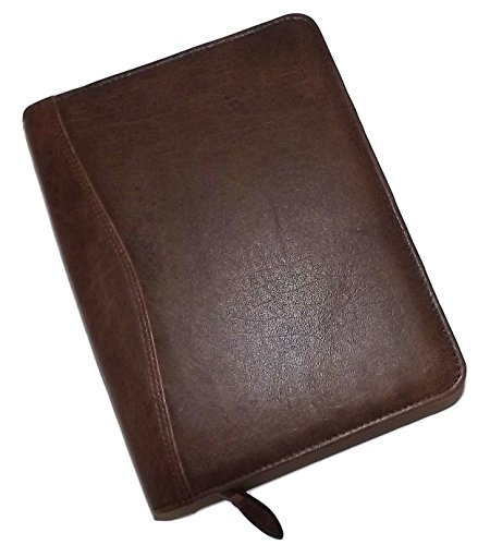 Scully Aero Squadron Leather Writing Padfolio Walnut Brown by Scully
