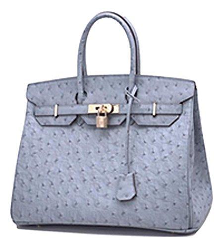 Birkin Ostrich Mn Bag Gold  Turkey Blue  35Cm