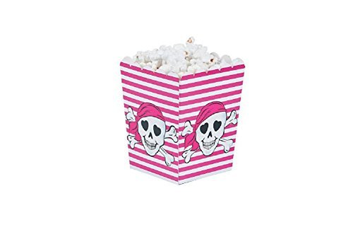 Pink Pirate Popcorn Boxes (24 Pack)  3