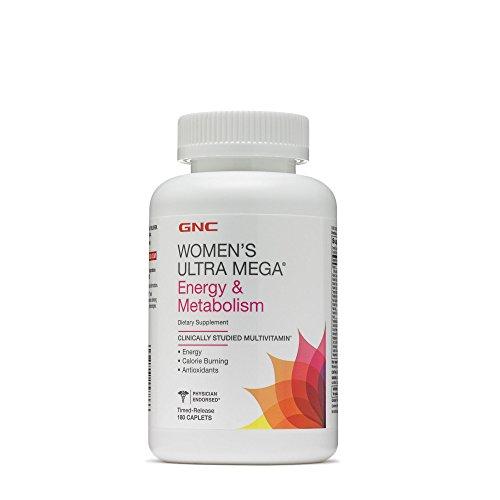 Gnc Womens Ultra Mega Energy Daily Multivitamin For Increased Energy  Metabolism Calorie Burning   180 Caplets
