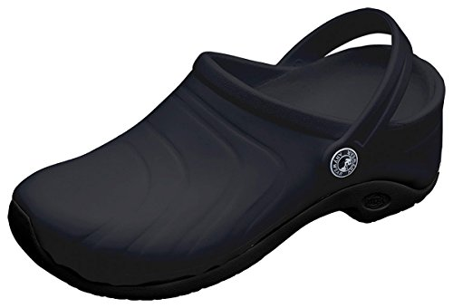 - Anywear Unisex Anywear Injected Clog w/Backstrap_Black_7,ZONE
