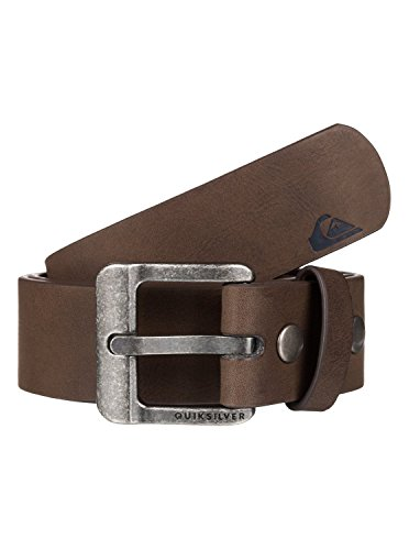 Quiksilver Embossed Belt (Quiksilver Mens Main Street - Faux-Leather Belt Faux-Leather Belt Brown)