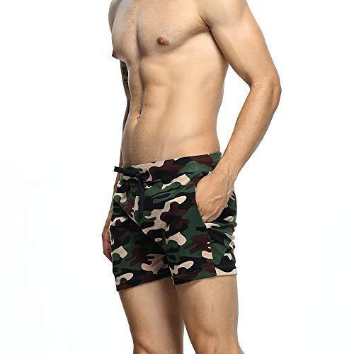 In Mogreen Casual Yuch Allenamento Uomo Pantaloncini Da Cotone Home Sport Stampato Camicie PwSU0Sq
