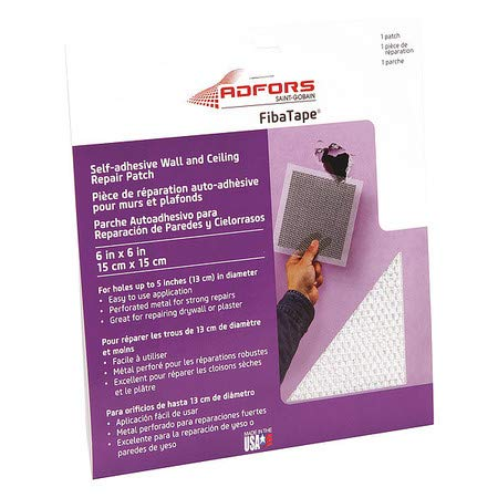 Aluminum Wall and Ceiling Patch, 6''x6''