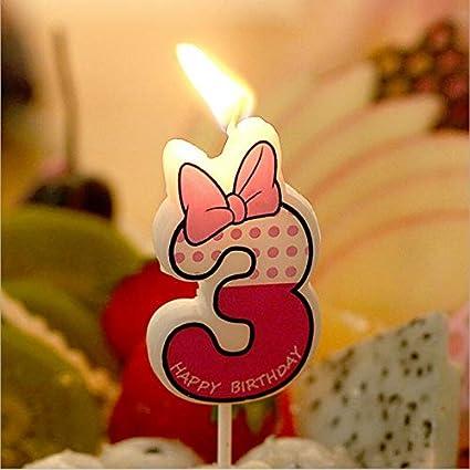 Cupcake Toppers – Número 0 – 9 mickey minnie ratón vela para ...