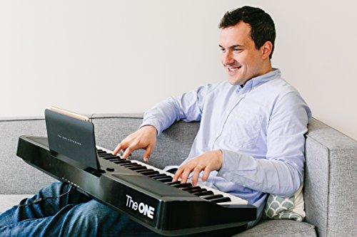 The ONE Smart Piano Keyboard, 61-Key Portable Keyboard, The ONE Light Keyboard,  Electric MIDI Keyboard, Black - Image 4