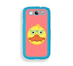 Duck Hipster Aqua Plastic Bumper Samsung Galaxy S3 SIII i9300 Case - Fits Samsung Galaxy S3 SIII i9300