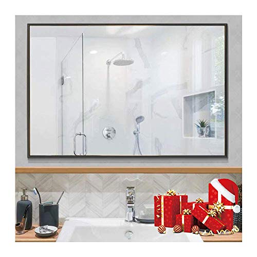 Beauty4U Large Rectangle Metal Frame Mirror, 35.4
