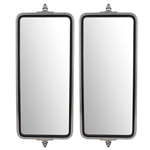 Universal West Coast Truck Stainless Steel Driver and Passenger Side Mirrors 7